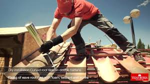 how to fit clay roofing tiles using installation system