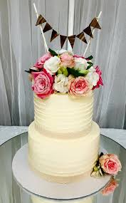 Butter Cream Rustic Floral Cake