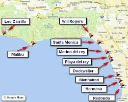 Beach Map Locations Best Southern California Beaches For Surf Fishing
