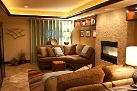 Brown Couch Living Room Decor Ideas by Decorating Cozy Conestoga Tile Floor With Brown Sectional Sofa