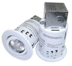 3 recessed light kit with swivel trim and 50 watt bulbs