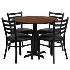 Shop 36'' Round Laminate Table Set With 4 Ladder Back Metal Chairs ... Cocktail Tables Celebrations Party Rentals Square Wooden Banqueting Table In An Assortment Of Sizes How Many Guests Can I Seat At My Tablebasescom Australian Smline Trtles Is Australias Leading Supplier And Chairs Redwood City Ca Aabco Rents Sells Inc Tables Pogo 36 Round Wood Banquet Folding Chairs White Chair 1888builders Wedding Black Laminate Set With 4 Trapezoidal Back A Affair Flash Fniture Tpwal36rdgg Highgloss Walnut