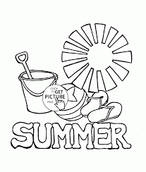 Summer Coloring Page For Kids Seasons Pages Printables At Book