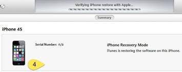 iPhone recovery mode Verifying iPhone restore with Apple