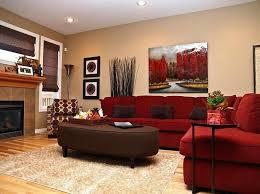 rot und braun wohnzimmer dekoration ideen braunes