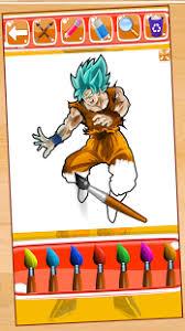 Hero Goku Super Saiyan Coloring Game For Kids