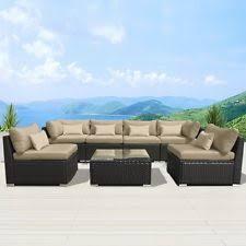 Ebay Patio Furniture Sectional by Modenzi 7g U Outdoor Sectional Patio Furniture Espresso Brown
