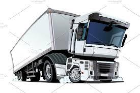 100 Motor Truck Cargo Cartoon Cargo Semi Truck Isolated On