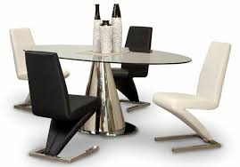 100 Oak Pedestal Table And Chairs Extend Only Sets Round White Glass Silhouette Black