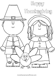 Printable Thanksgiving Coloring Page Free Pages Disney