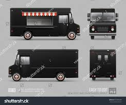 100 Truck Brand Black Food Hidetailed Vector Template Stock Vector Royalty