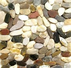 sliced mixed river tile flat multicolor pebbles mixed pebble