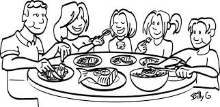 Dinner Table Clip Art Black And White Table C