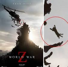 Zombie Cat On World War Z Movie Poster
