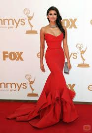 nina dobrev in stunning red donna karan if this dress were in