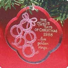 Five Golden Rings Twelve Days Of Christmas 5th In Series 1988 Hallmark Ornament QX3714