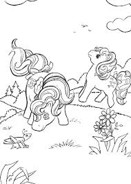 Ponies Running Home Pony Playing With Cricket Coloring Page