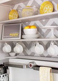 Shill Yellow Grey Gray Kitchen Chevron Lemon White Vintage Chambers LOVE