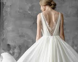 Silk Wedding Dress Amalthea Lace Gown Summer Bohemian