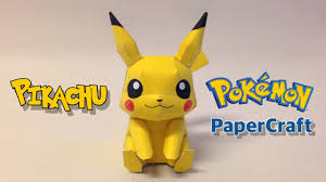 How To Make Pikachu Papercraft From Pokemon Go W O