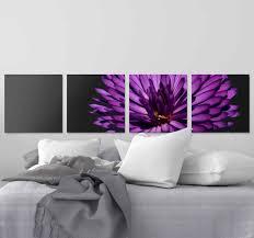 wandbild blume moderne lila blumen