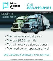 Prime Logistics Corp - Home | Facebook Prime Inc Springfield Mo Trucking Walmart Dicated Pay Youtube News Truck Driving School Job Ft Page 10 New Gets Precdl Drivers In Team Operations Exemption Reefer Vs Flatbed Dry Van 1 Ckingtruth Forum Settles With Eeoc After Allegations Of Marten Ordered To Pay Former Driver 51k Firing Him For Experienced Drivers Nominated Best Fleets Drive For