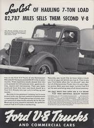 100 Northeastern Trucks Low Cost Of Hauling A 7ton Load 87 787 Miles Ford V8 Truck Ad