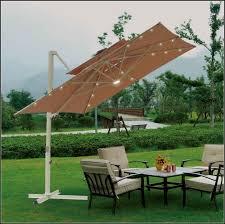 solar lighted rectangular patio umbrella patios home
