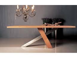 table cuisine inox table de repas design chêne massif brut huilé inox brossé