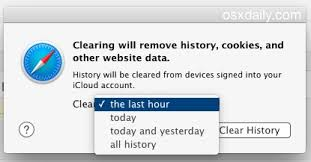 Clear Recent Web Browsing History in Safari for Mac OS X