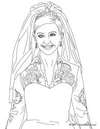 Free Wedding Coloring Pages Image 24 Human Category Gianfreda Net Barbie Dress