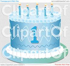 1st birthday blue clipart 6