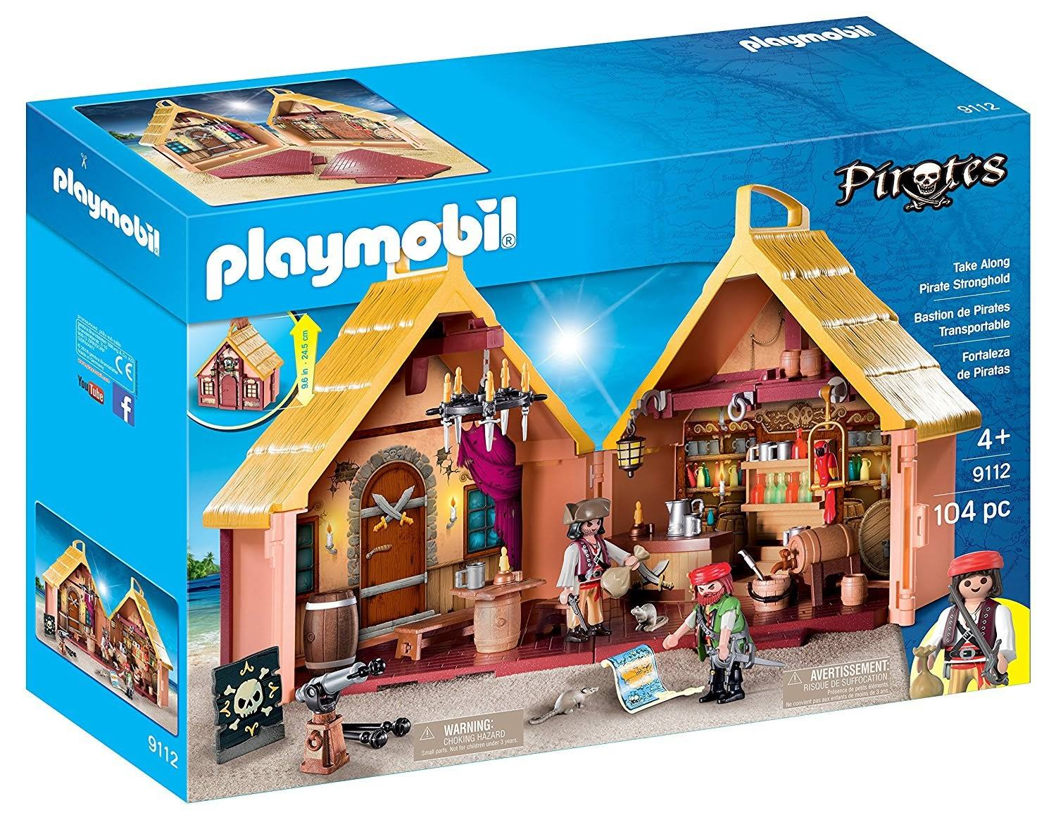 Playmobil 9112 Pirates Pretend Play Toy - Take Along Pirate Stronghold