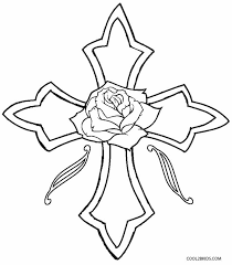 Cross With Roses Coloring Pages Sugar Skull