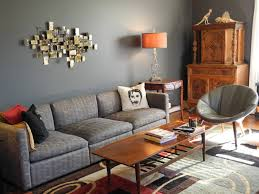 Blue Gray Living Room Color Sherwin Williams Light On Design With Sofas Image