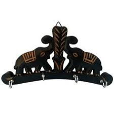 Decorative Key Holder For Wall Uk by Onlineshoppee Wooden Key Holder With Mirror Handicraft Design