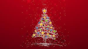 Christmas Tree Stars HD Wallpaper
