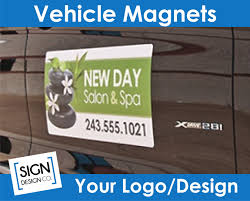 100 Business Magnets For Trucks Vehicle Magnet Pair W Your Design File Company Logo Etsy