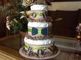 Bowtie Diaper Cake Rustic Boy Burlap Baby