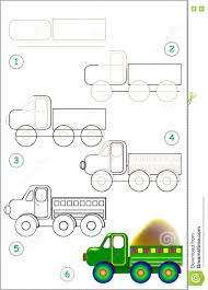 100 How To Draw A Truck Step By Step Page Shows Learn Lorry Stock Vector