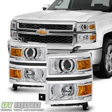 100 Chevy Silverado Truck Parts 20142015 1500 Pickup Projector Headlights Headlamps