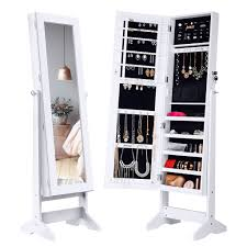 Free Standing Kitchen Cabinets Amazon by Amazon Com Langria Lockable Jewelry Cabinet Standing Jewelry