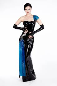 this elegant one shoulder evening gown has a 1940 u0027s inspired