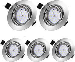 led recessed spotlight ip44 5 x 5 w gu10 module 230 v 500 lm