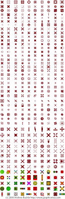 Letter type text symbols royalty free