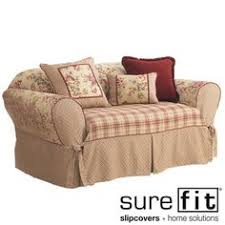 Sure Fit Dual Reclining Sofa Slipcover by Reclining Sofa Slipcover Floral Linen Cottage Adapted For Dual