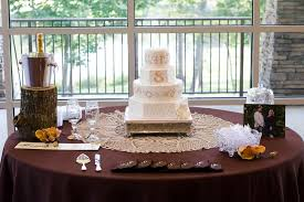 Wedding Cake Table Ideas Rustic Burlap And Lace Theme Mobile Al Candice Brown Photography
