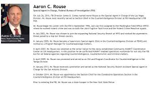 Las Vegas CLANDESTINE Operations FBI Section Chief Is Running