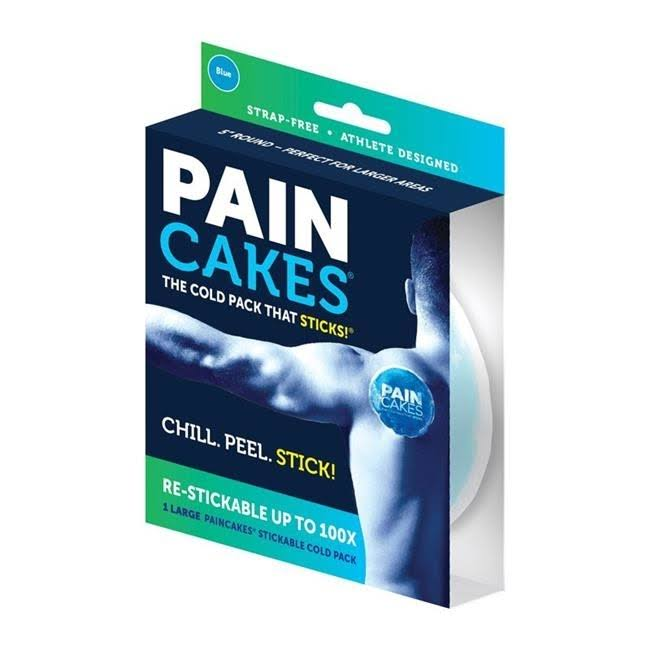Pain Cakes Cold Pack, Stickable, Blue, Large
