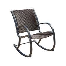 Gracie Dark Brown Wicker Outdoor Rocking Chair-295654 - The Home Depot Wicker Rocking Chair Grey At Home Windsor Black Rocker And End Table Set With Patio Resin Steel Frame Outdoor Porch Noble House Harmony With White 3pc Cushion Good Looking Glider Big Plans Sw Chairs Lounge Dark Brown Amazoncom Cloud Mountain 3 Piece Bistro Decorating Rockers Gliders Coral Coast Casco Bay